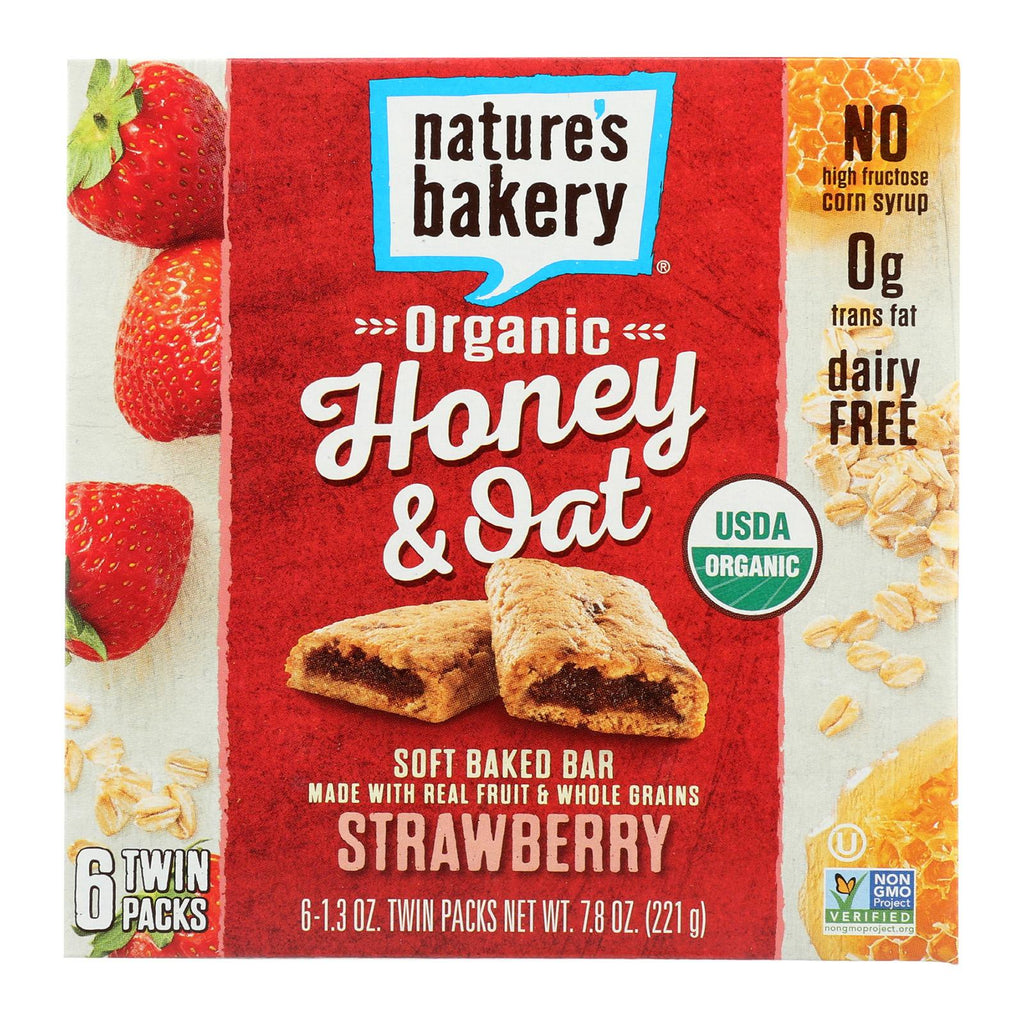Nature's Bakery Organic Honey And Oat Bar - Strawberry - Case Of 6 - Pack Of 6 - 1.3 Oz.