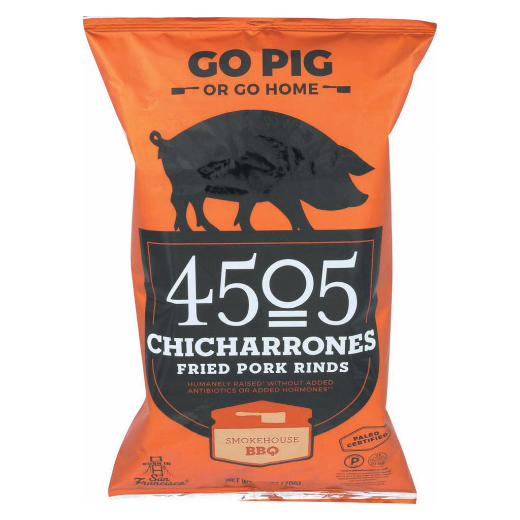 4505 Pork Rinds - Chicharones - Smokehouse Bbq - Case Of 12 - 2.5 Oz