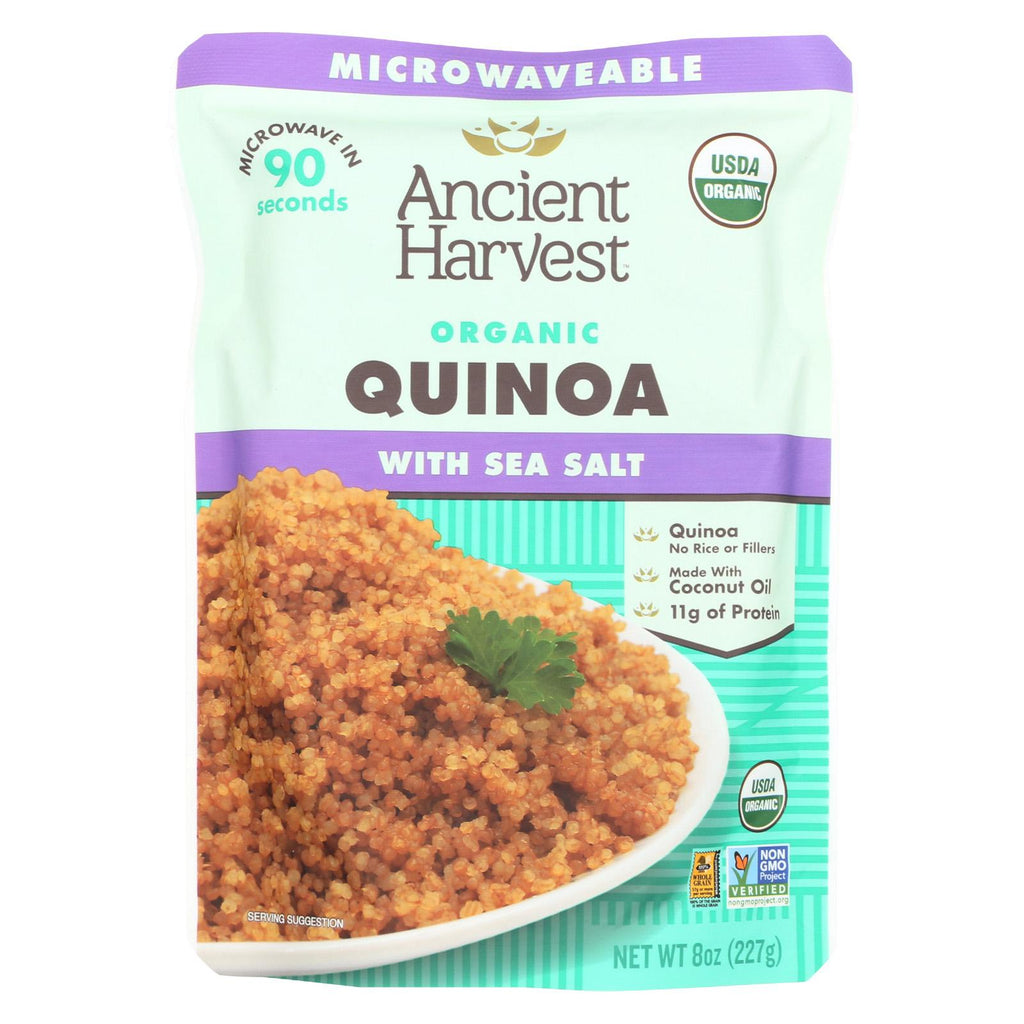 Ancient Harvest Organic Quinoa - With Sea Salt - Case Of 12 - 8 Oz