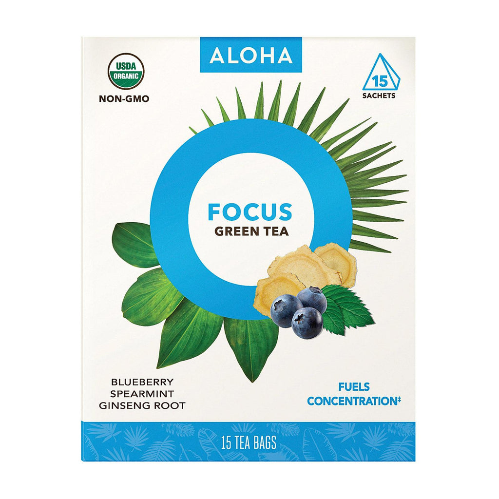 Aloha (tea) Tea - Organic - Focus - Case Of 6 - 15 Bag