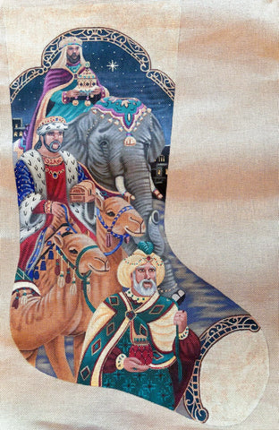 Three Kings Stocking- Liz Goodrick-Dillion- TTAXS347-Stitch Guide by Mary Ann Davis