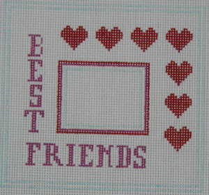 Best Friends Needlepoint Frame
