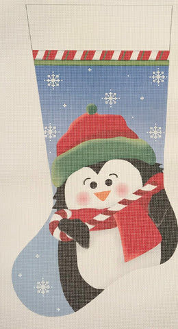Candy Cane Penguin Stocking