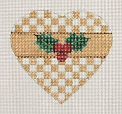 Checkered Holly Heart