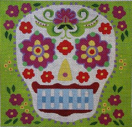 Blue Tooth Sugar Skull