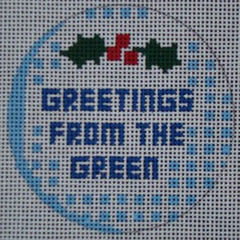 Greetings From the Green Golf Ball Ornament