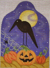 Fall Crow with Birdcage