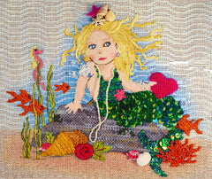 Little Mermaid Stitch Guide by Mary Ann Davis (Mary Engelbreit Canvas)
