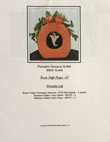 Pumpkin Diorama with Ghost