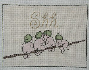 Gum Babies Needlepoint Canvas