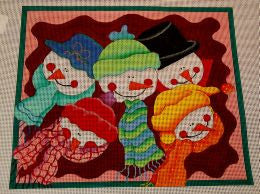 Jolly Snowman Needlepoint kit
