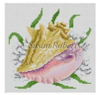 Queen Conch Stitch Guide by Mary Ann Davis (Susan Roberts Canvas)