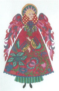 Red Angel Needlepoint Canvas