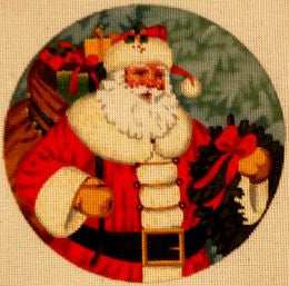 Santa with Wreath