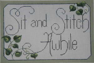 Sit & Stitch Awhile Needlepoint Canvas