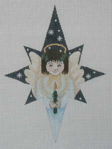 Star Angel Needlepoint Ornament