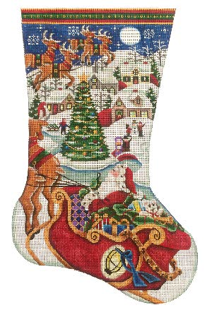 Village Christmas Stitch Guide by Mary Ann Davis