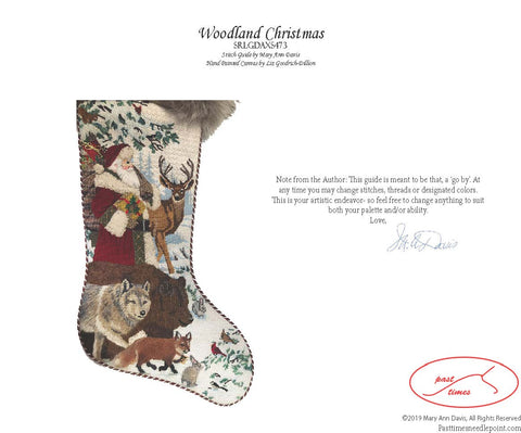 Woodland Christmas Stitch Guide by Mary Ann Davis