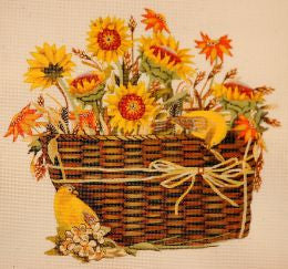 Sunflower Basket