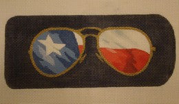 Texas Eye Glass Case