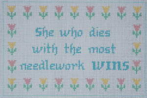 The Most Needlepoint Wins! Needlepoint Canvas