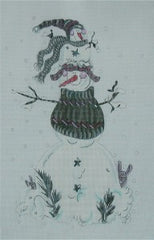 Totem Snowman Needlepoint Canvas