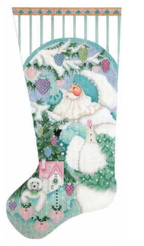 Winter White Santa Sock-Melissa Shirley- MS1803- Stitch Guide by Mary Ann Davis