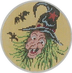 Witch Ornament Needlepoint Canvas