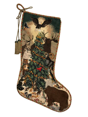 Woodland Animals Stocking-Liz Goodrick-Dillion-TAXS254-Stitch Guide by Mary Ann Davis