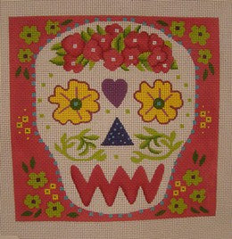 Yellow Eyes Sugar Skull