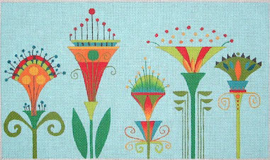 5 Lotus Flowers Stitch Guide by Mary Ann Davis