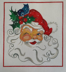 Santa Face with Blue Bird
