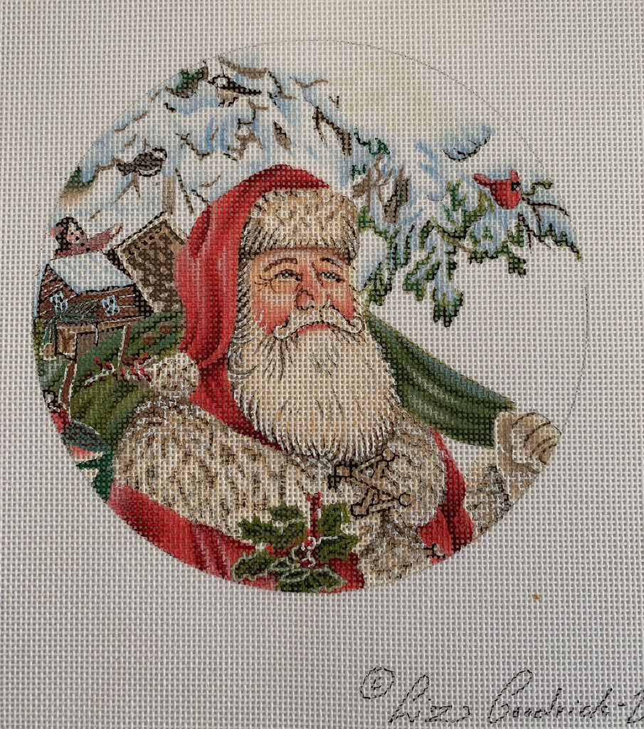 Wilderness Santa ornament