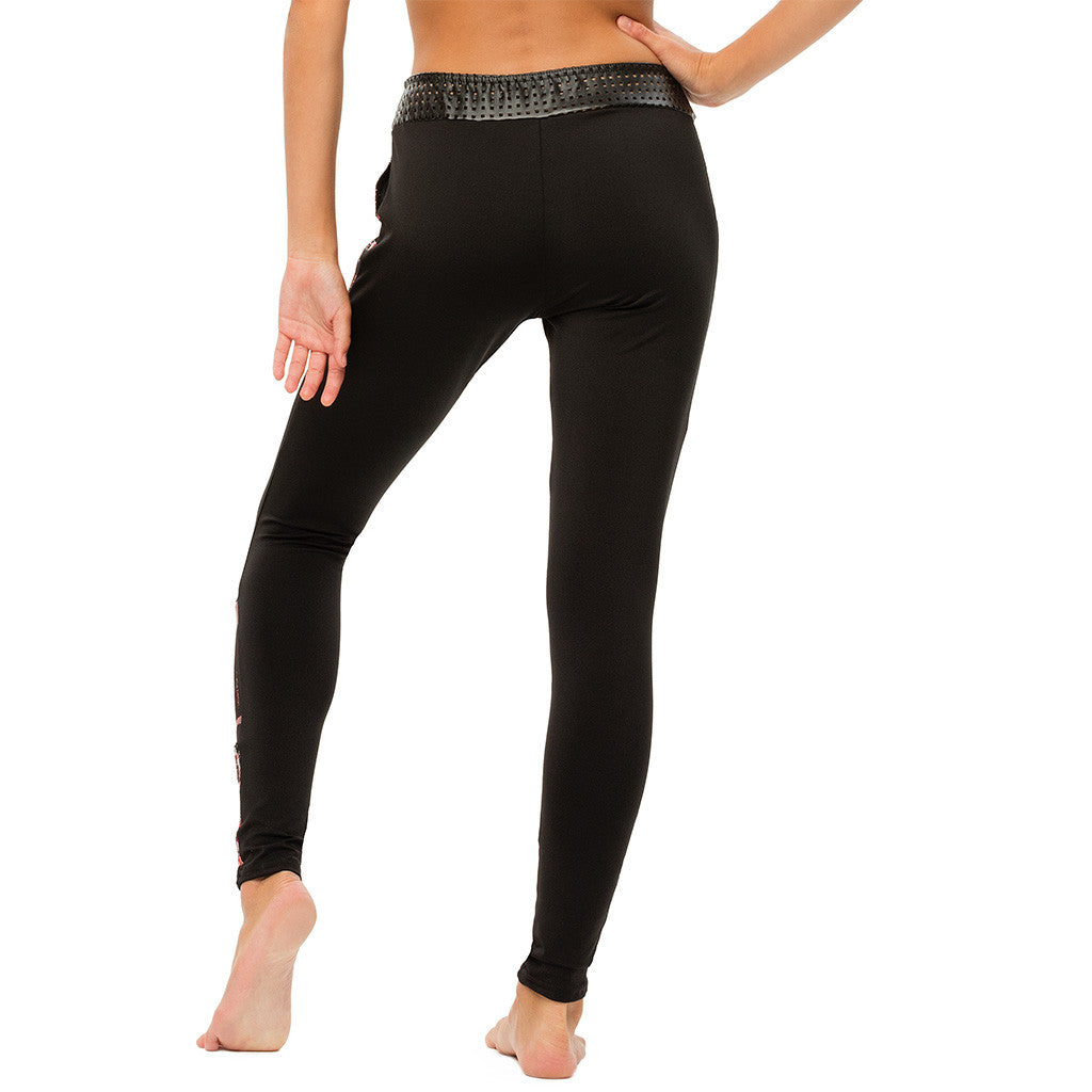 Leggings with Hotline and Faux Leather - Style 272