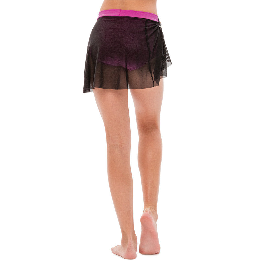 Mesh Short Skirt with Gathered Side - Style 4617