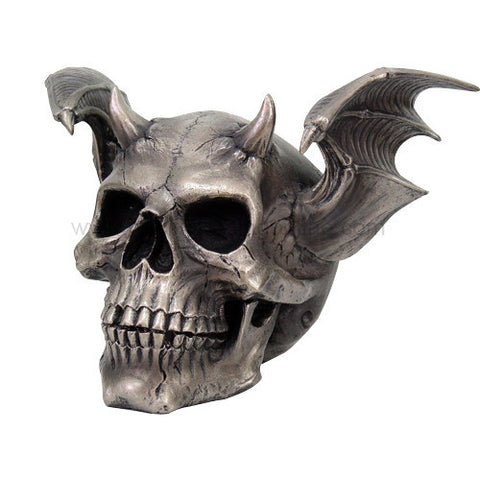 Skull with Devil Wings