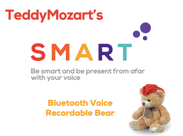 TeddyMozart Bluetooth Voice Recordable Bear