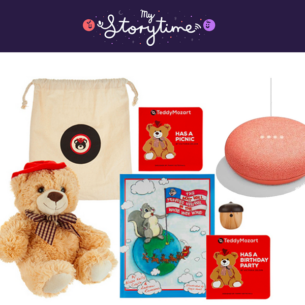Storytime TeddyMozart and Google Home Mini Bundle