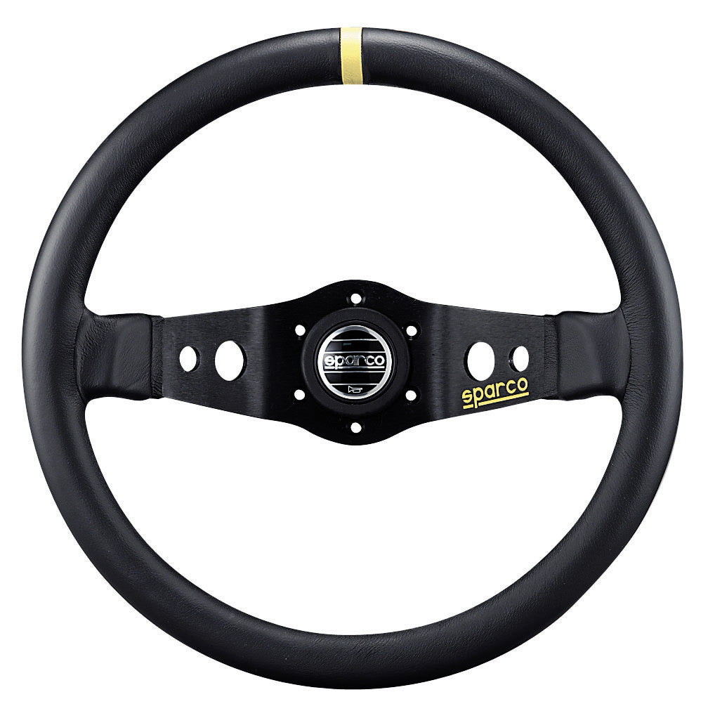 Sparco 215 Leather Black Steering Wheel