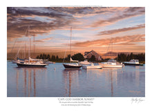 "Load image into Gallery viewer, ""Cape Cod Harbor Sunset"""
