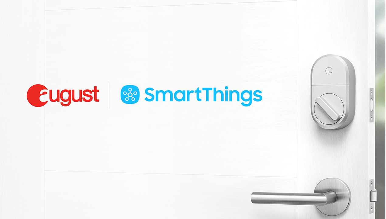 August and Connected by August Locks Are Now Directly Compatible with SmartThings