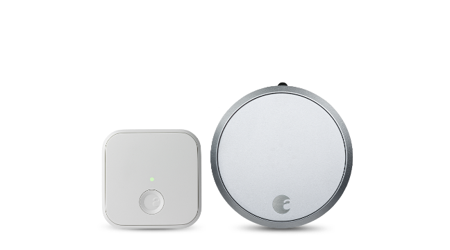 August Smart Lock Pro + Connect Silver Color