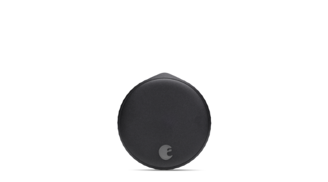 August Wi-Fi Smart Lock in matte black style