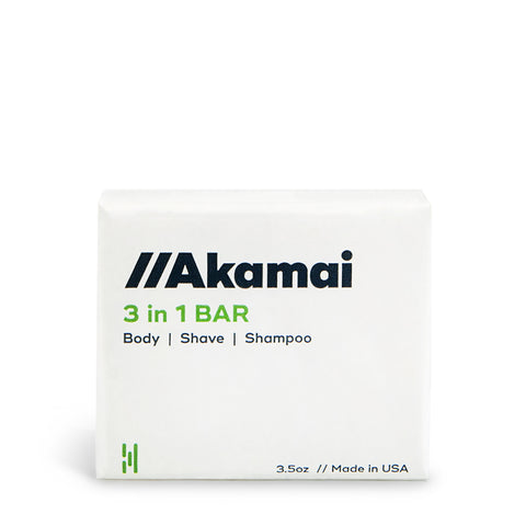Akamai 3 in 1 Bar - Wash, Shave, Shampoo : Delivered to your door every 60 days.