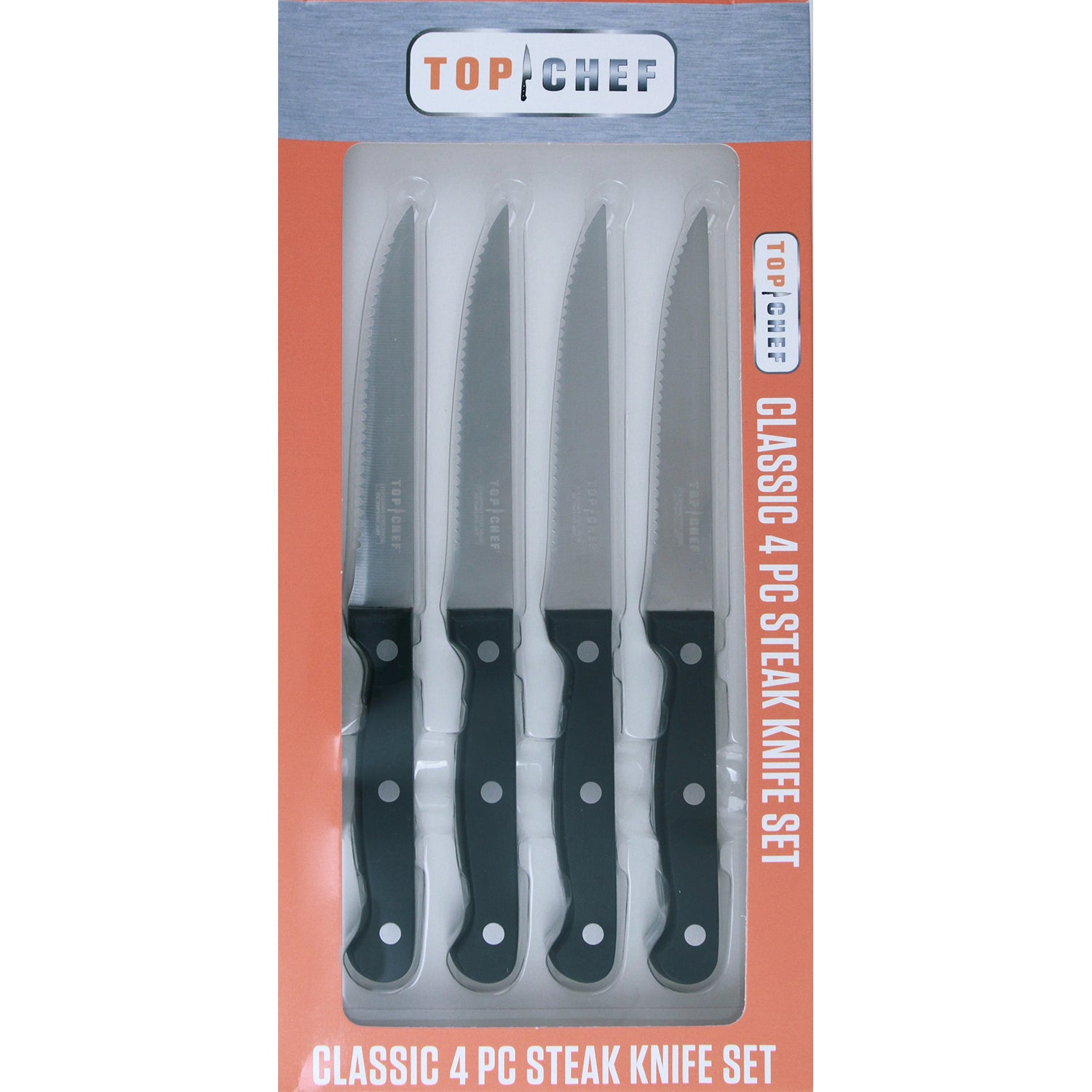 TOP CHEF® 4-Piece Classic Steak Knife Set - Top Chef Cutlery by ...