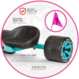 Madd Girls Drift Trike Pink Teal Big Wheel
