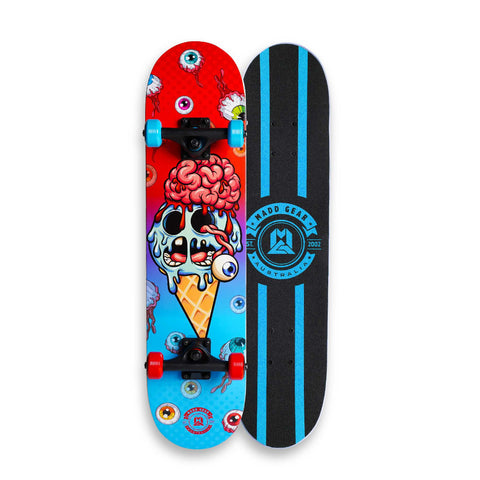 Madd Complete Skateboard Ice Cream Red Blue