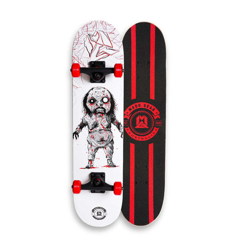 Madd Complete Skateboard White Red Demon