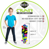 Kids Cruiser Skateboard Complete Madd Gear