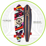 Childrens Longboard Complete Skateboard Red